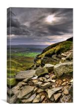 The Descent Of Pen-Y-Ghent, Canvas Print