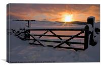 Yorkshire Dales Winter sunrise, Canvas Print