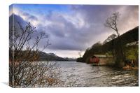 The Ullswater Boathouse, Canvas Print
