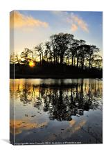 Sunset Over The Brathay, Canvas Print