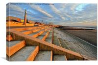 Cleveleys Golden Hour, Canvas Print