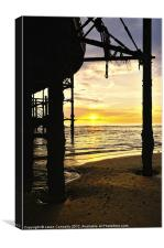 Sunset At The Pier, Canvas Print