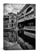 Lock 91, Rochdale canal, Manchester, Canvas Print