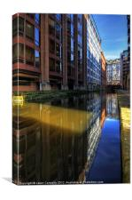 Rochdale Canal Reflections, Canvas Print