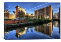 Rochdale Canal, manchester, Canvas Print