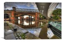 Castlefield Reflections, Canvas Print