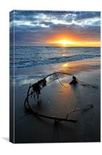 Cleveleys Sunset.., Canvas Print
