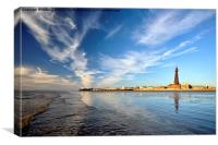 Blackpool By The Sea, Canvas Print