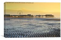 Central Pier, Blackpool, Canvas Print