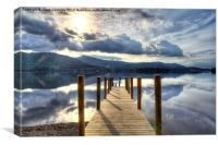 Derwentwater Jetty, Canvas Print