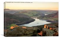 Sunset  Views From Bamford Edge, Canvas Print