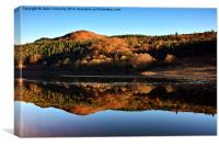 Reflections At Ladybower Reservoir., Canvas Print