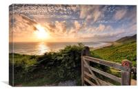 Rhossili Sunset, Canvas Print