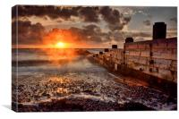 Cleveleys Sunset, Canvas Print