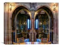 Rylands Library, manchester, Canvas Print