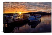 Last Light At Windermere, Canvas Print