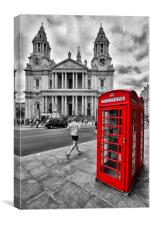 Red Telephone Boxes Outside St Paul's, Canvas Print