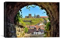Whitby Abbey through The Arch, Canvas Print
