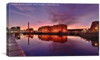 Albert Dock Sunrise., Canvas Print