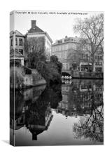 Black And White Bruges, Canvas Print