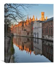 Canals Of Bruges., Canvas Print