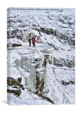Winter Time At Kinder Downfall, Canvas Print