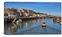 Whitby Harbour Views, Canvas Print