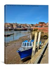 Boats At Whitby, Canvas Print