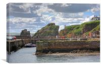 St. Abbs Harbour, Canvas Print