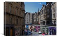 The way to The Grassmarket, Canvas Print