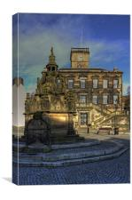 Town House and Well, Canvas Print