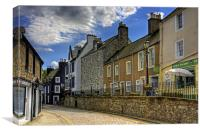 Along the Cobbled High Street, Canvas Print
