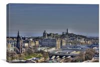 The view to Calton Hill, Canvas Print