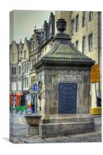 The West Bow Well, Canvas Print