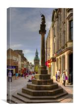 Mercat Cross and City Chambers, Canvas Print