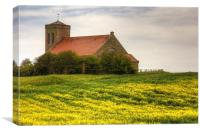 St Abbs Church in Rapeseed, Canvas Print
