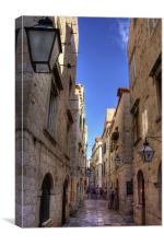 An Alley in Dubrovnik, Canvas Print