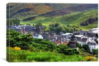 Holyrood from Calton Hill, Canvas Print