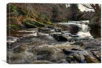 The River Almond, Canvas Print