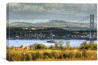 New Forth Crossing - 16 February 2013, Canvas Print