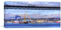 New Forth Crossing - 19 April 2013, Canvas Print