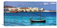 Choro Old Harbour, Canvas Print