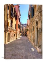 An Alleyway in Venice, Canvas Print