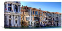 Palazzos on the Grand Canal, Canvas Print