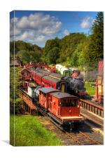 Crowds at Goathland Station, Canvas Print