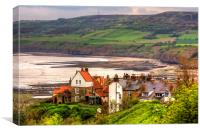 First view of Robin Hoods Bay, Canvas Print