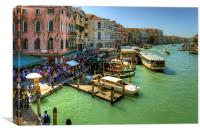 Crowded Venice, Canvas Print