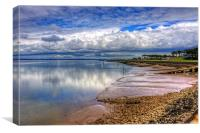 The Waterfront at Silloth, Canvas Print