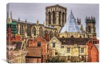 The Minster from the City Walls, Canvas Print