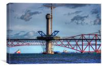 New Forth Crossing - 2 March 2015, Canvas Print